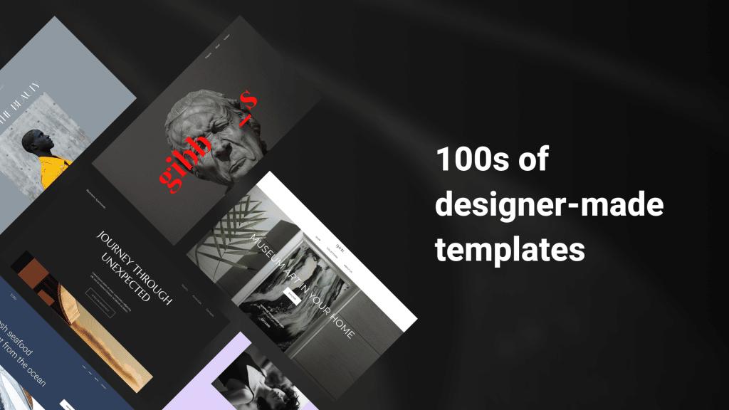 Zyro ceintaines de templates designs