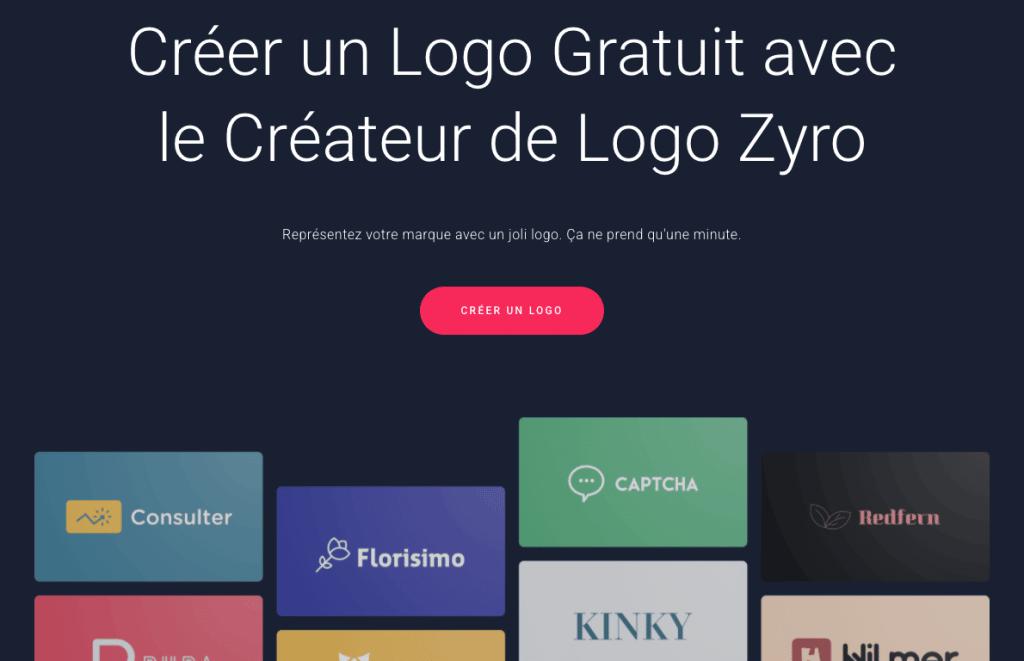 Créateur de logo Zyro