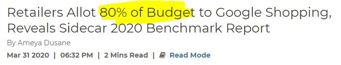 budget Google Shopping