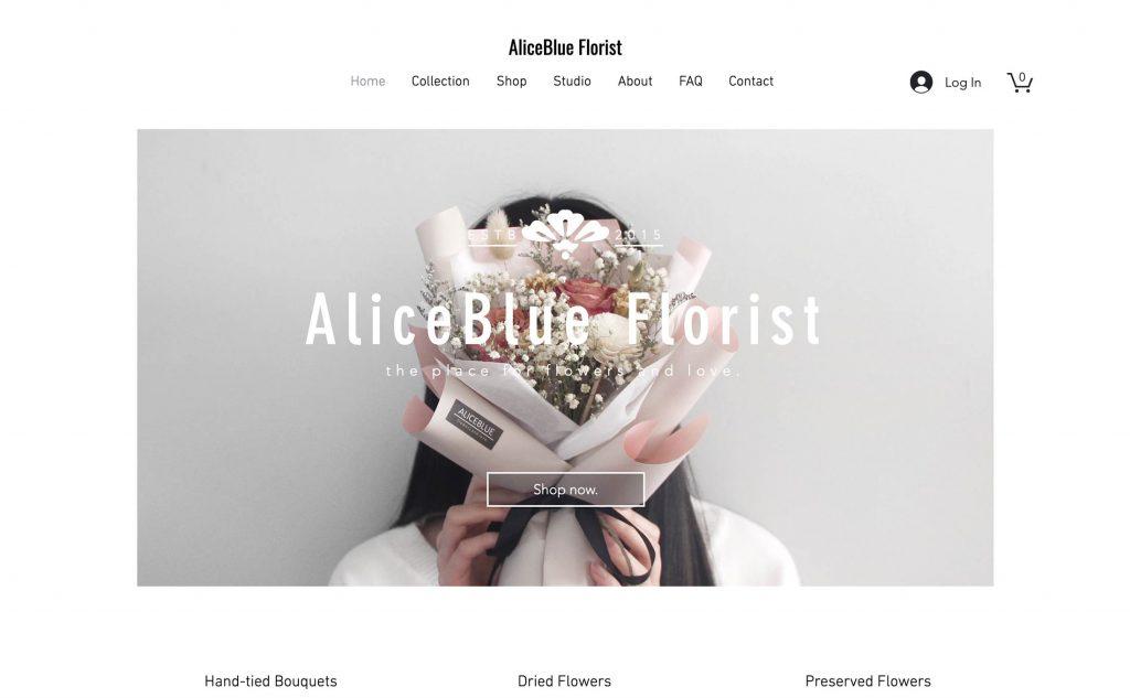 Site design Alice Blue Florist