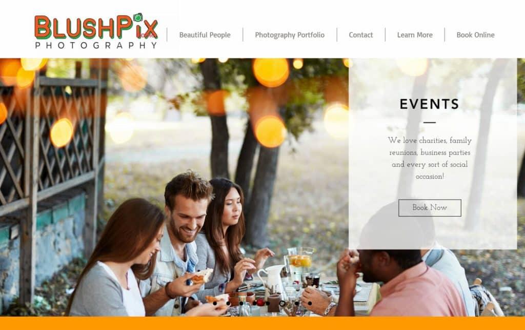 Site design BlushPix