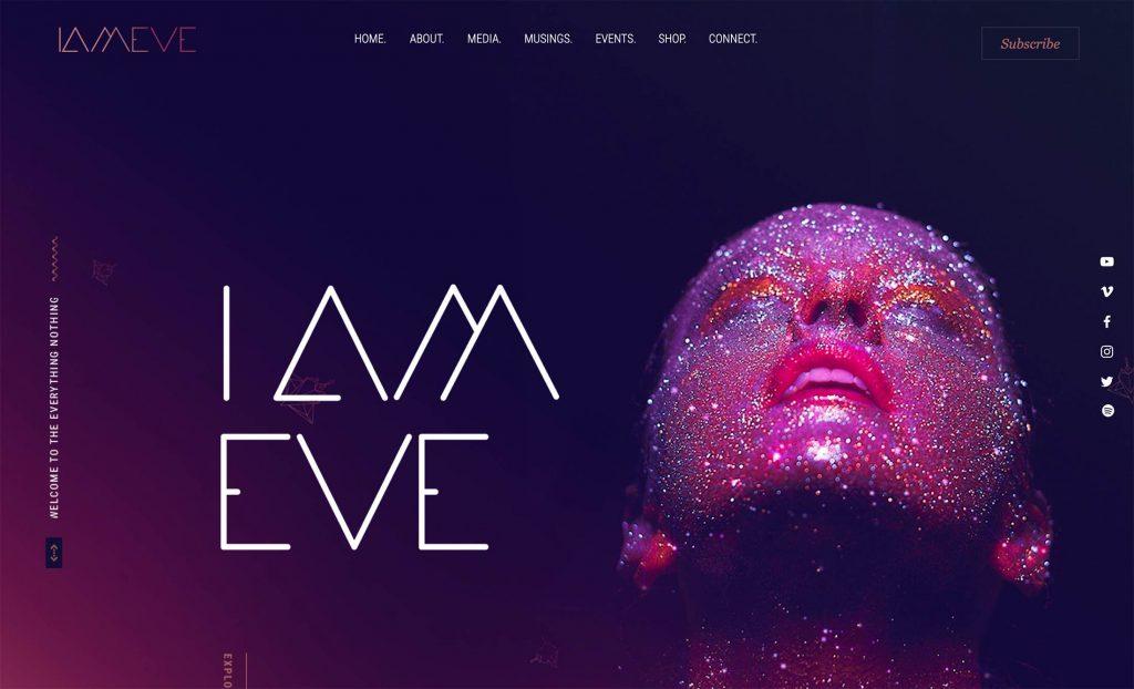 Site design I am Eve