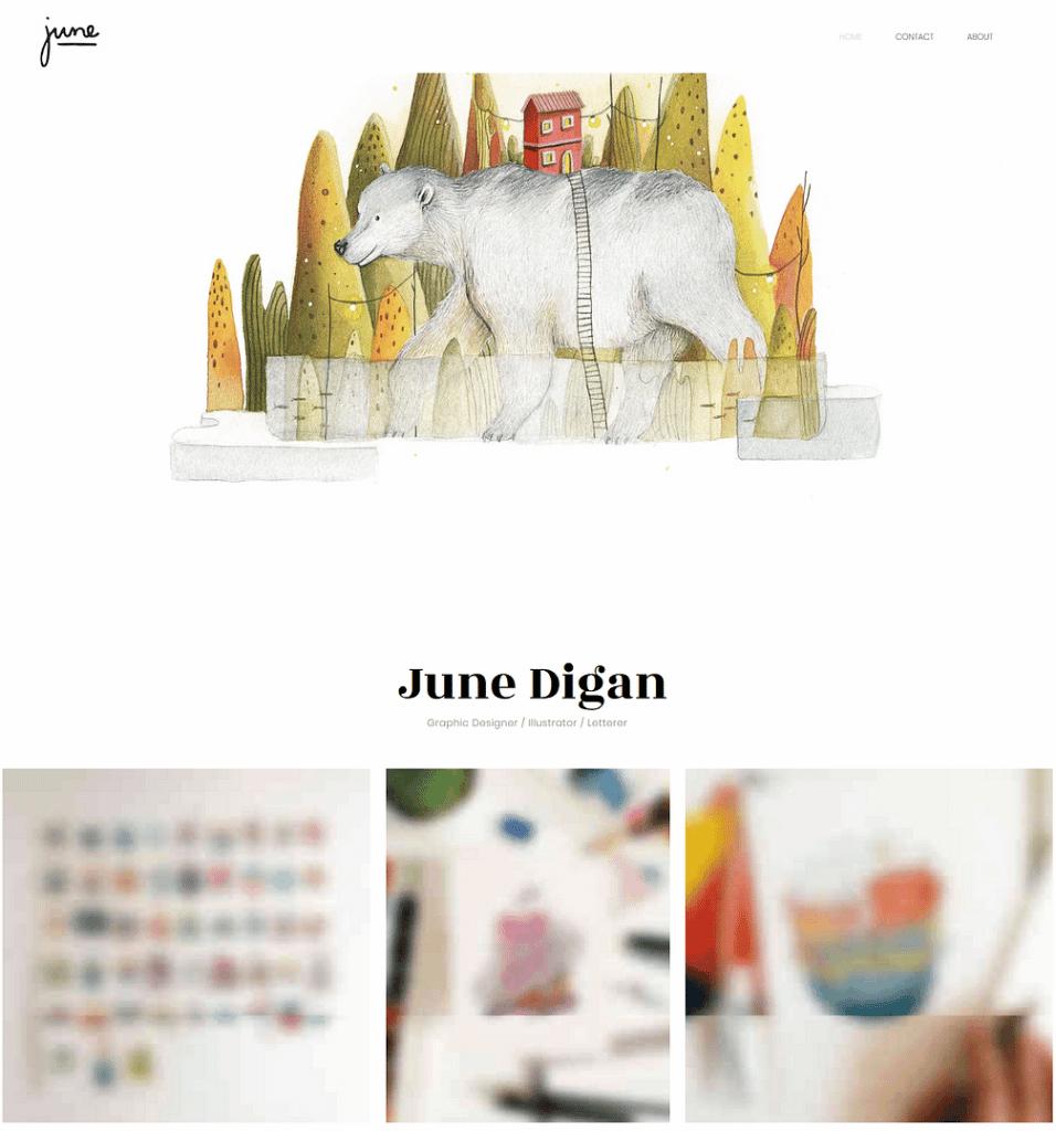 Site design June Digan