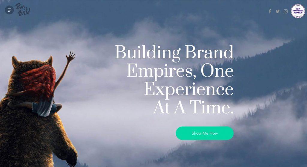 Site design Run Wild