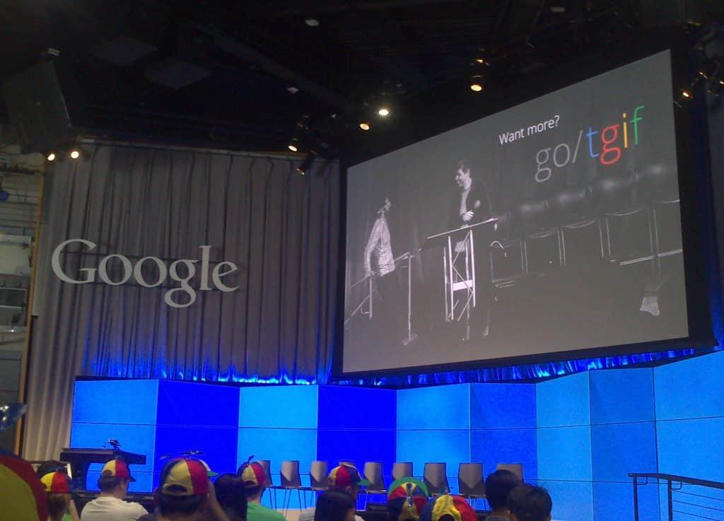 TGIF Google evenement de communication interne