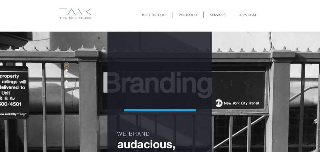 Site design Tink Tank Studio