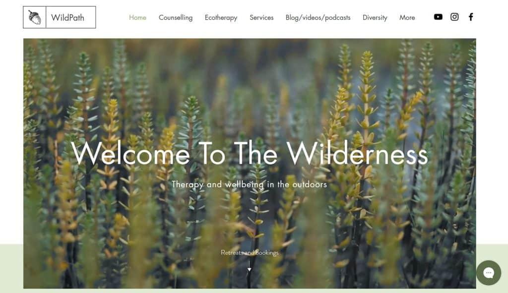 Site design Wild Path