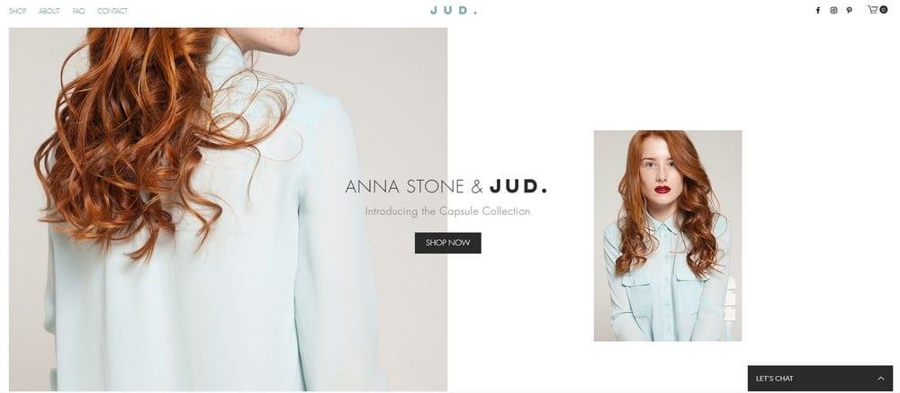 Template pour boutique avec produits de mode