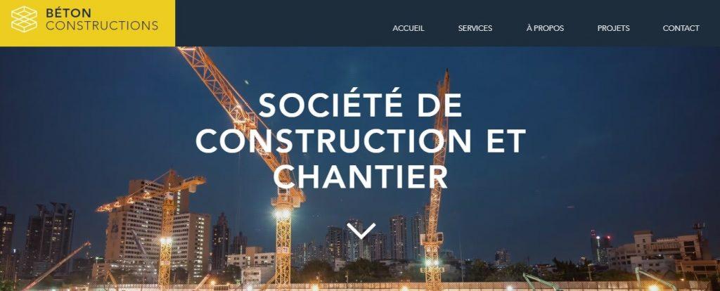 Template pour le site d'une entreprise de construction