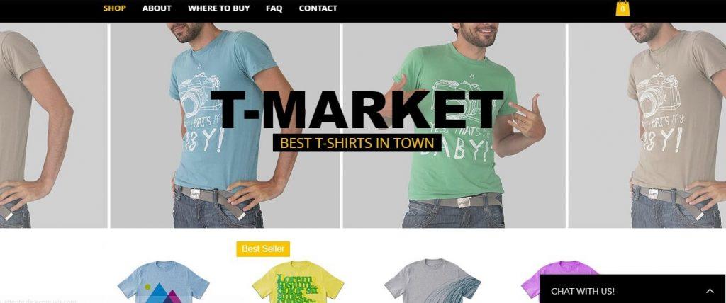 Template pour une boutique en ligne