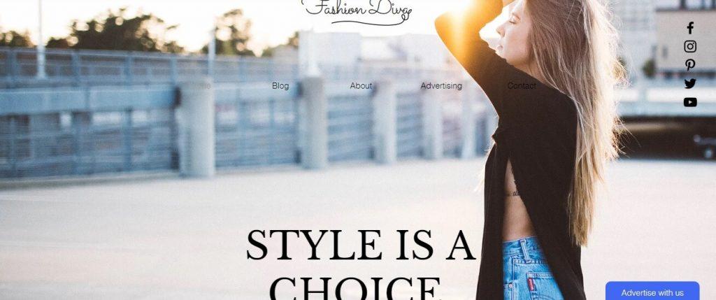Template pour une blogueuse mode