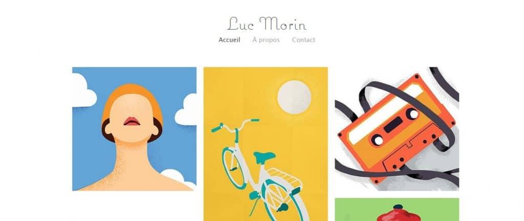 Template pour le portfolio d'illustrateur