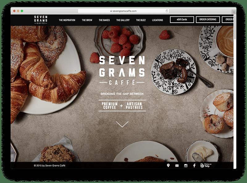 Site design Seven grams caffe
