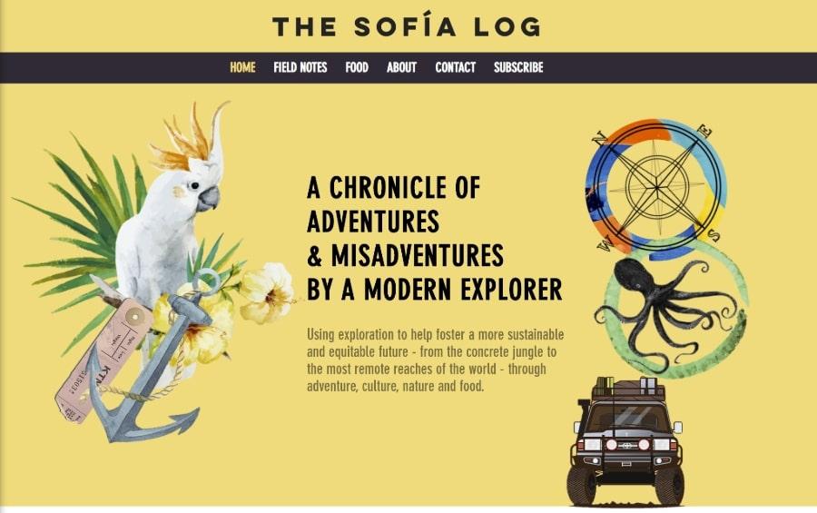 Site design The Sofia Log