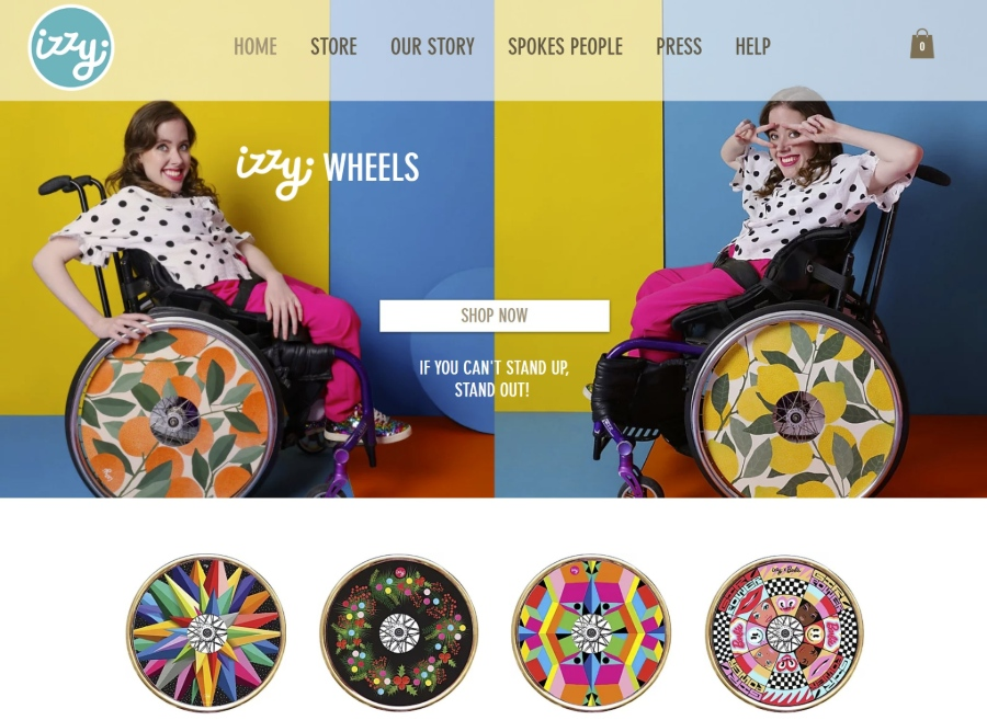 Site design Izzy Wheels