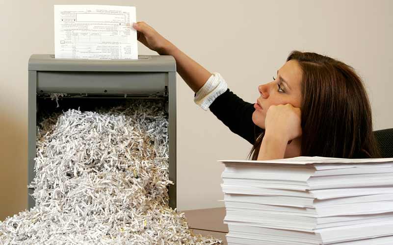 destructeur de papier déchiqueteuse document