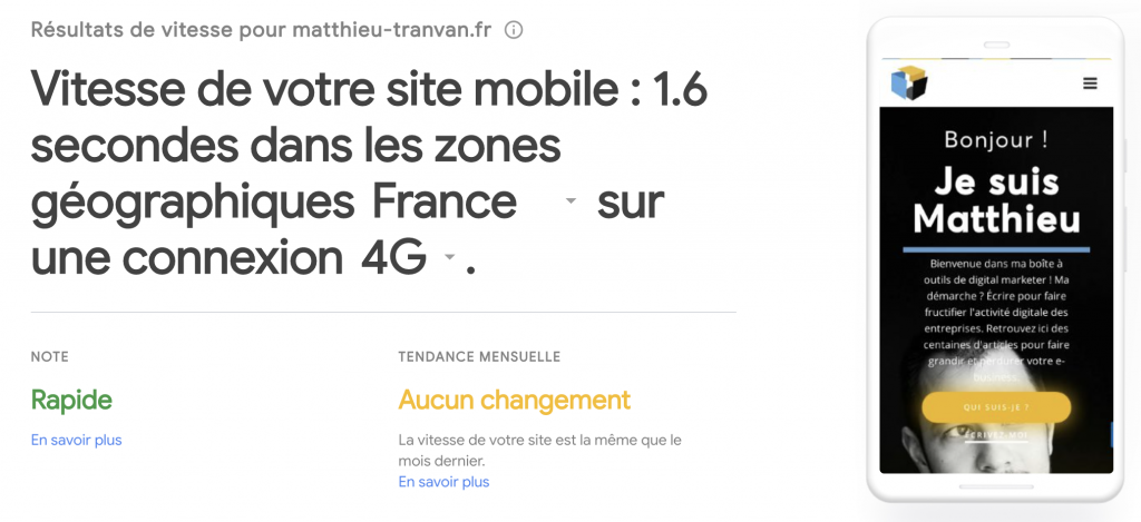 outil Google Test my Site