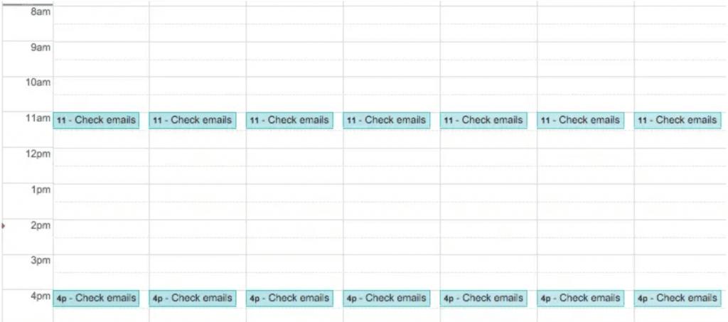 gestion du temps email productivité